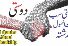 Photo of Dosti 21 best urdu quotes with images || Friendship urdu quotes
