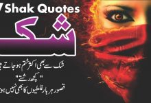 Photo of Shak 17 best urdu quotes with images