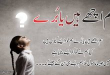 Photo of Hum asy kiyoun hain || hum achy hain ya bury.