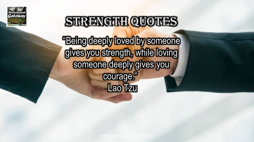 14 quotes on Strength