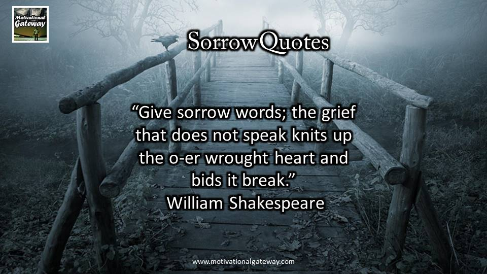 inspirational Quotes about Sorrow and grief