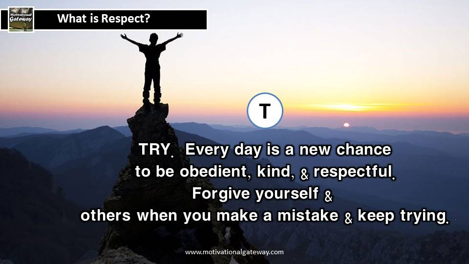 What is respect Best lines on respect