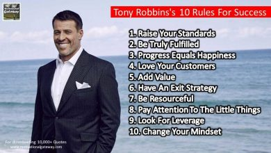 Photo of Tony Robbins's 10 Rules For Success