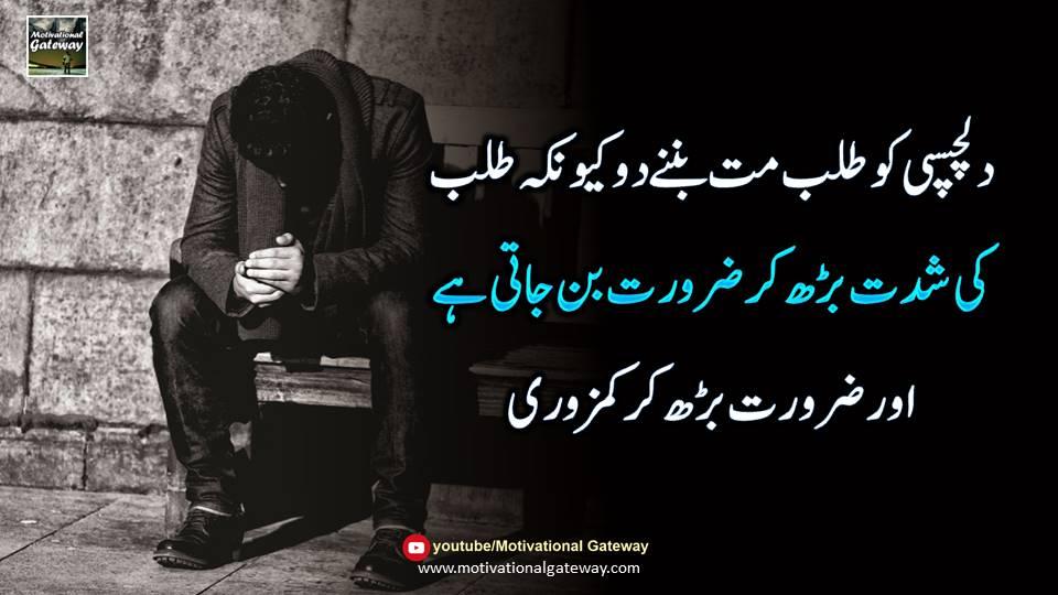 talab urdu quotes, dilchaspi quotes in urdu,