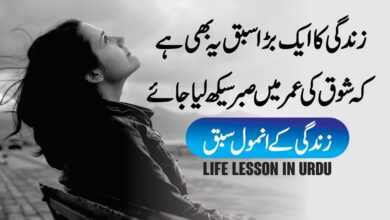 Photo of Life Lesson in urdu